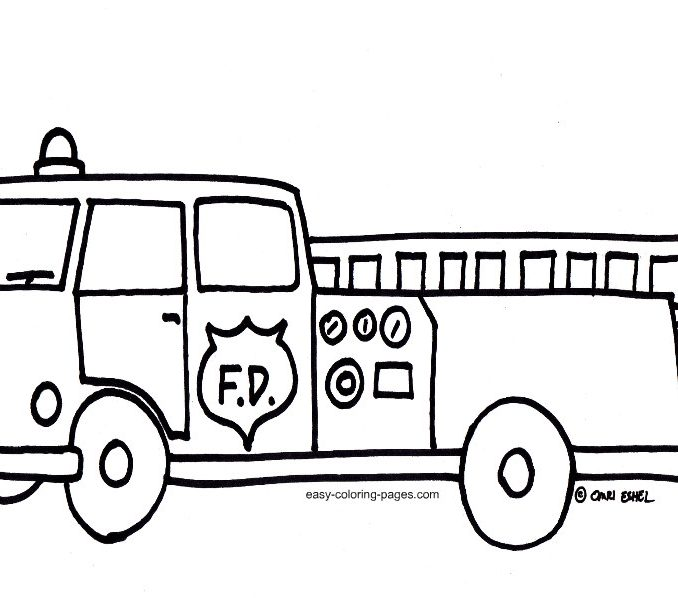 678x598 Fire Truck Coloring Pages Images Free Coloring Pages For Kids Fire
