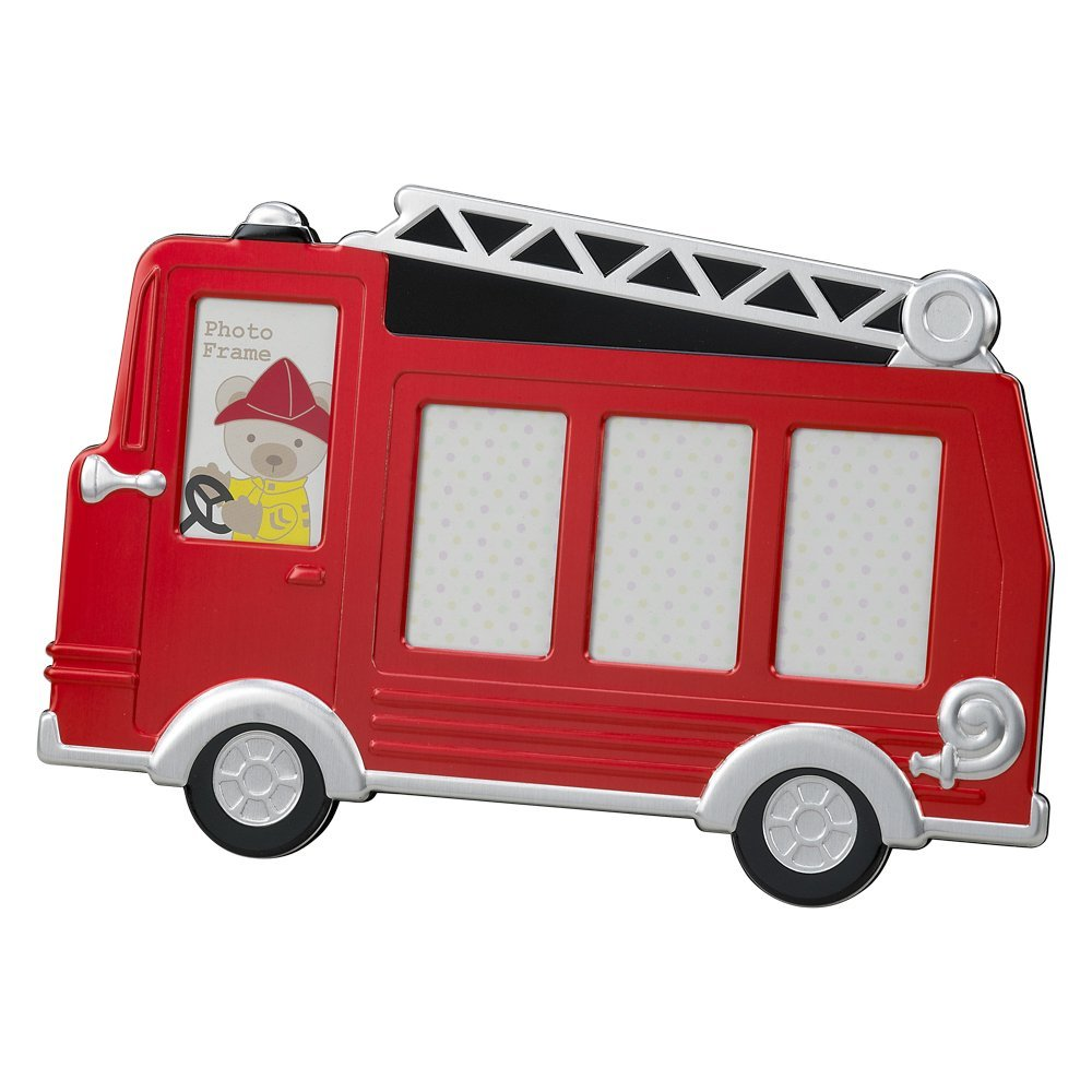 1000x1000 Red Fire Truck Frame Holds 4 Photos Baby