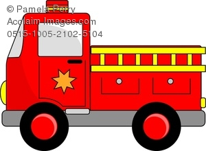 300x220 Art Image Of A Cartoon Fire Truck