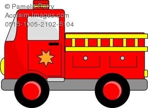 300x220 Art Image Of A Cartoon Fire Truck