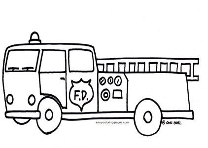 422x300 Coloring Pages Marvelous Fire Trucks To Color Truck Clipart 11