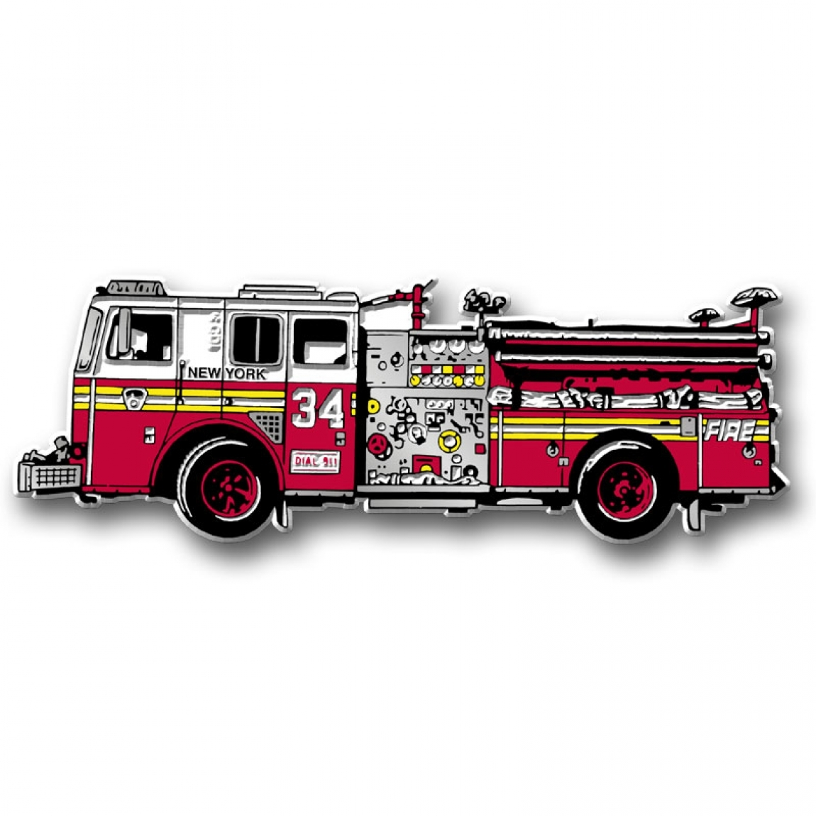 1150x1150 New York City Fire Truck Magnet