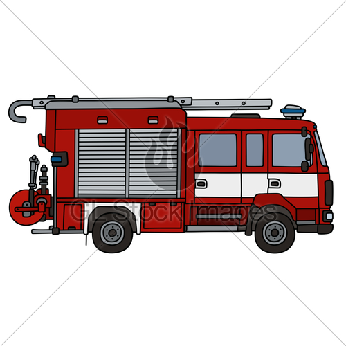 500x500 Vintage Fire Truck Gl Stock Images