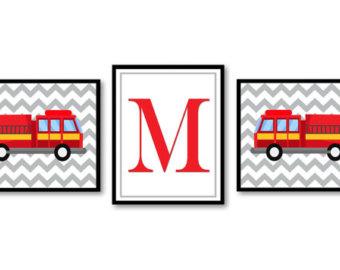 340x270 Fire Truck Nursery Etsy