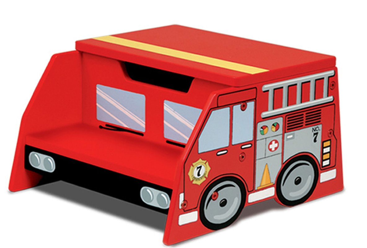 1184x800 Kidkraft Firefighter Fire Truck Step Stool With Storage Amp Reviews
