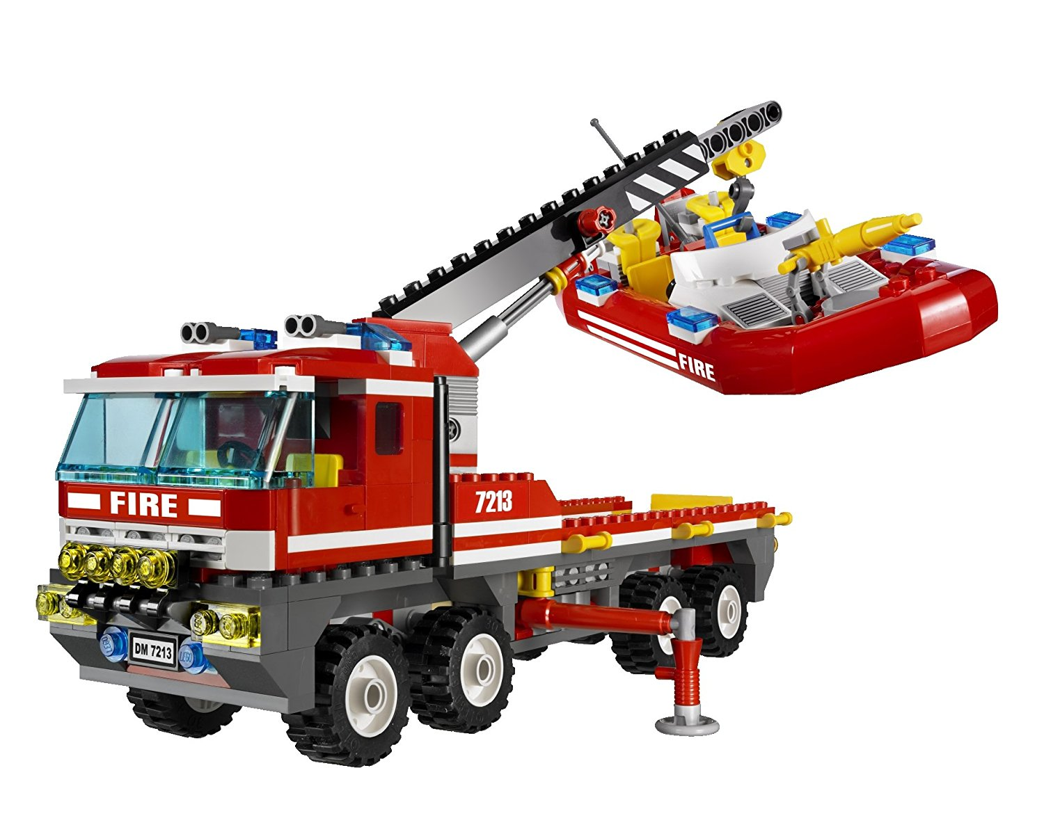 1500x1186 Lego City 7213 Off Road Fire Truck Amp Fireboat (Japan Import