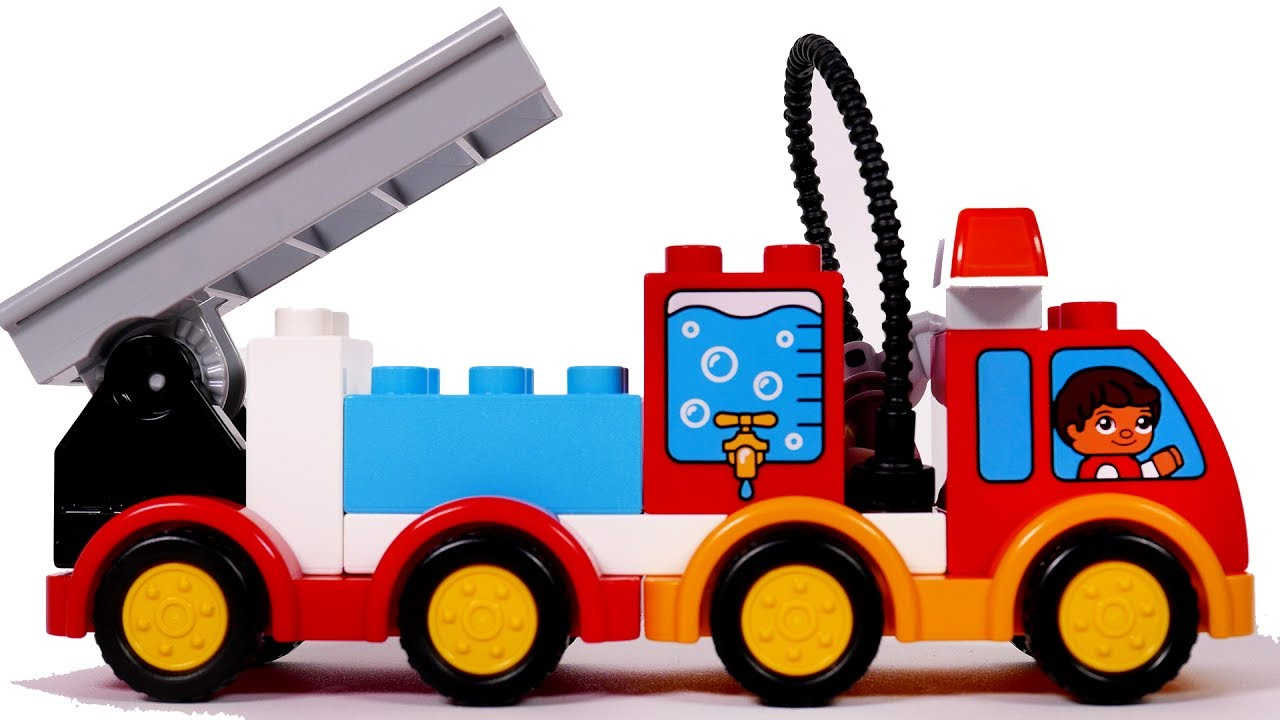 1280x720 Building A Big Fire Truck With Blocks Playset For Children