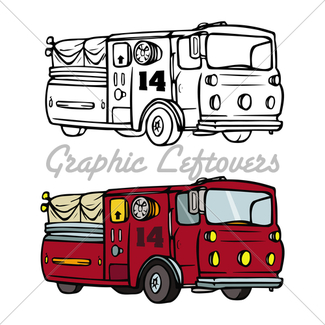 325x325 Cartoon Fire Truck Gl Stock Images