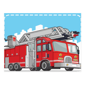 324x324 Fire Engine Postcards Zazzle