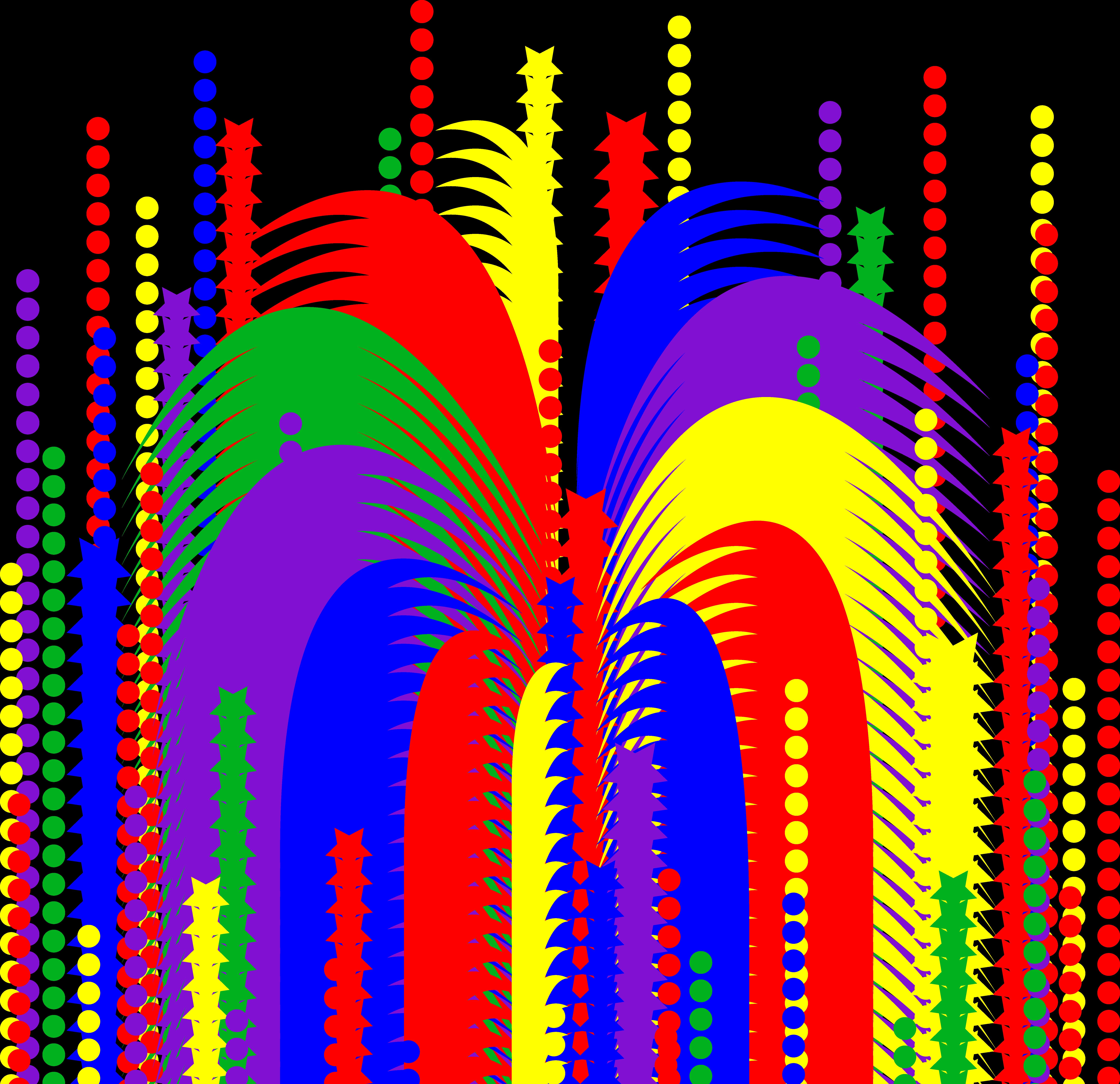 7175x6943 Fireworks Clipart 3
