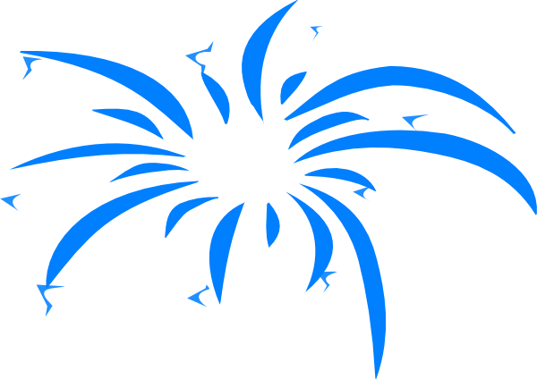 600x424 Fireworks Clipart Colored