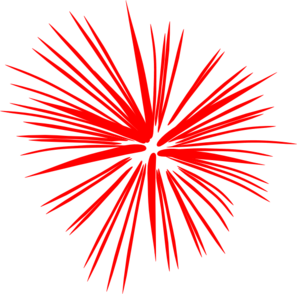 297x294 Large Red Fireworks Clip Art