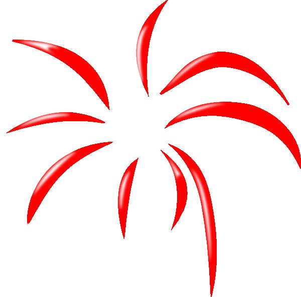 600x593 Red Simple Firework Clip Art
