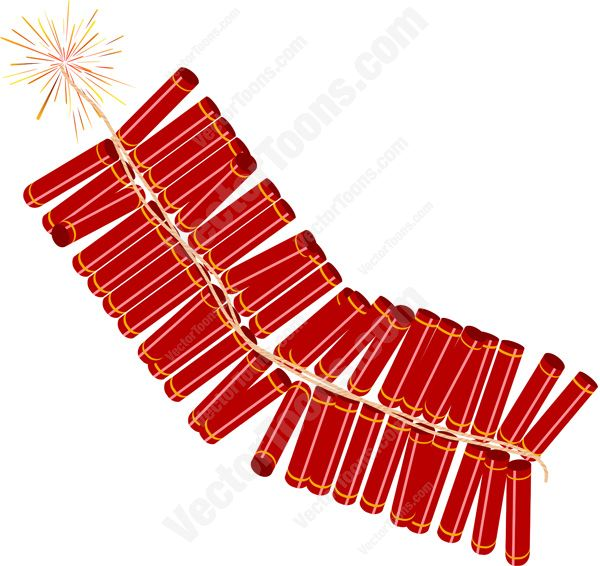 600x566 Cracker Clipart Chinese Firecracker