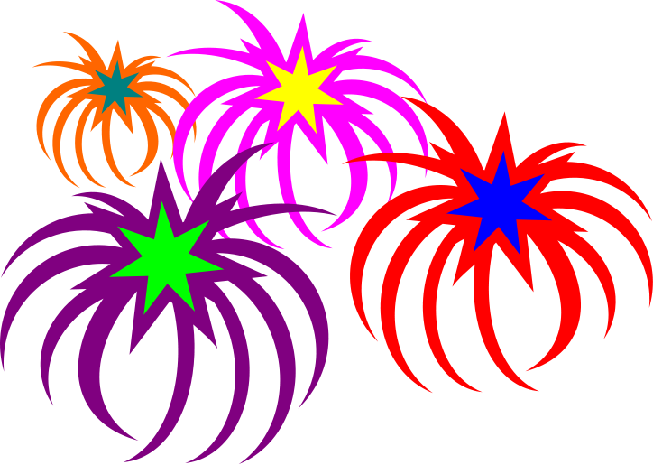 724x515 Firework Cartoon Free Clip Art