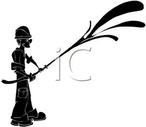 300x261 Firefighter Clip Art Black And White Clipart Panda