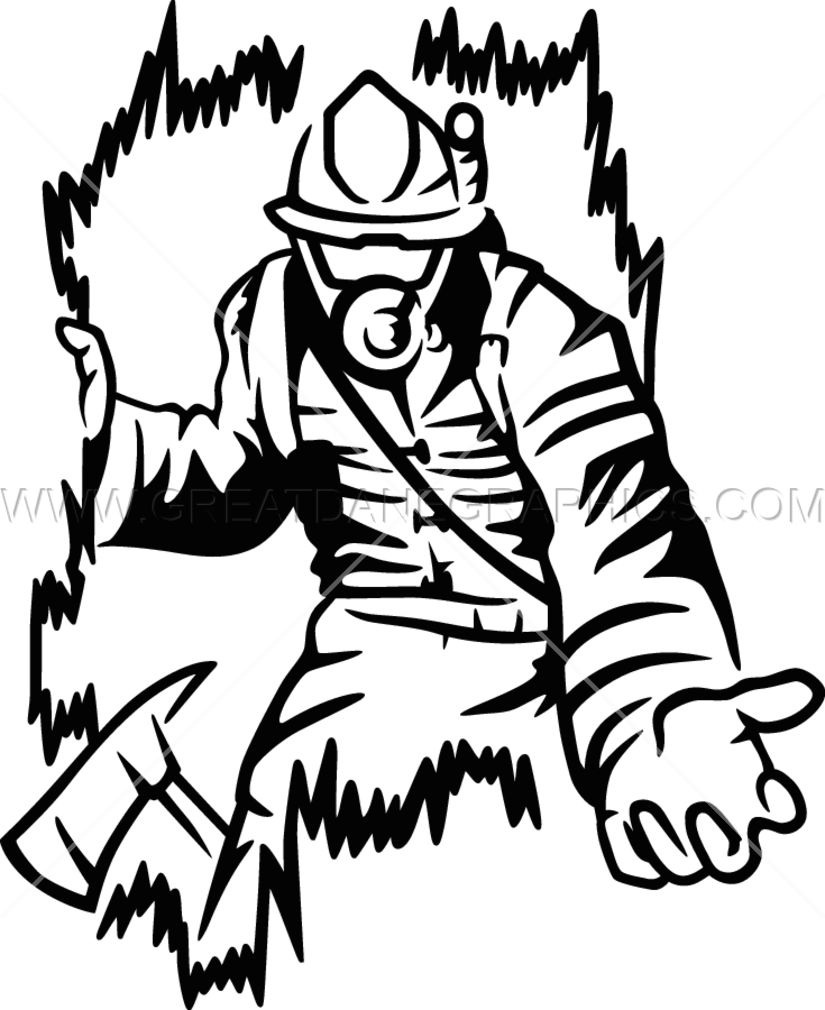 825x1010 Firefighter Rescue Production Ready Artwork For T Shirt Printing