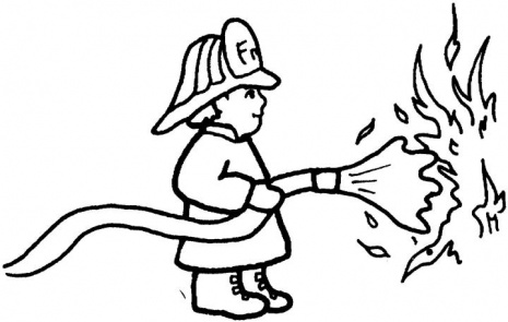 465x295 Firefighter Clipart Outline