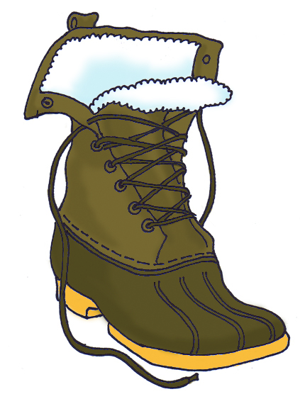 423x556 Kids Winter Boots Clipart