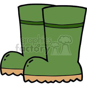 300x300 Royalty Free Green Garden Boots 379661 Vector Clip Art Image
