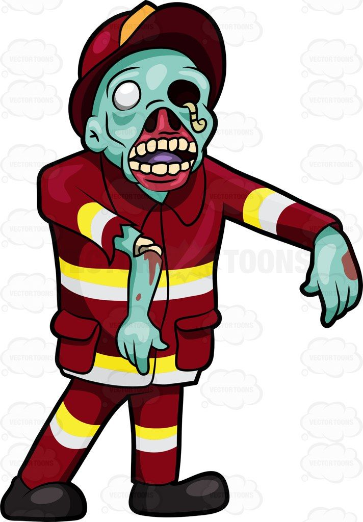 712x1024 A Creepy Looking Fireman Zombie