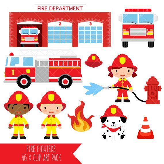 570x570 Firefighter Clipart Fire Department