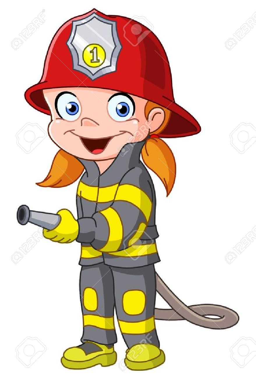 879x1300 Free Clipart Fireman