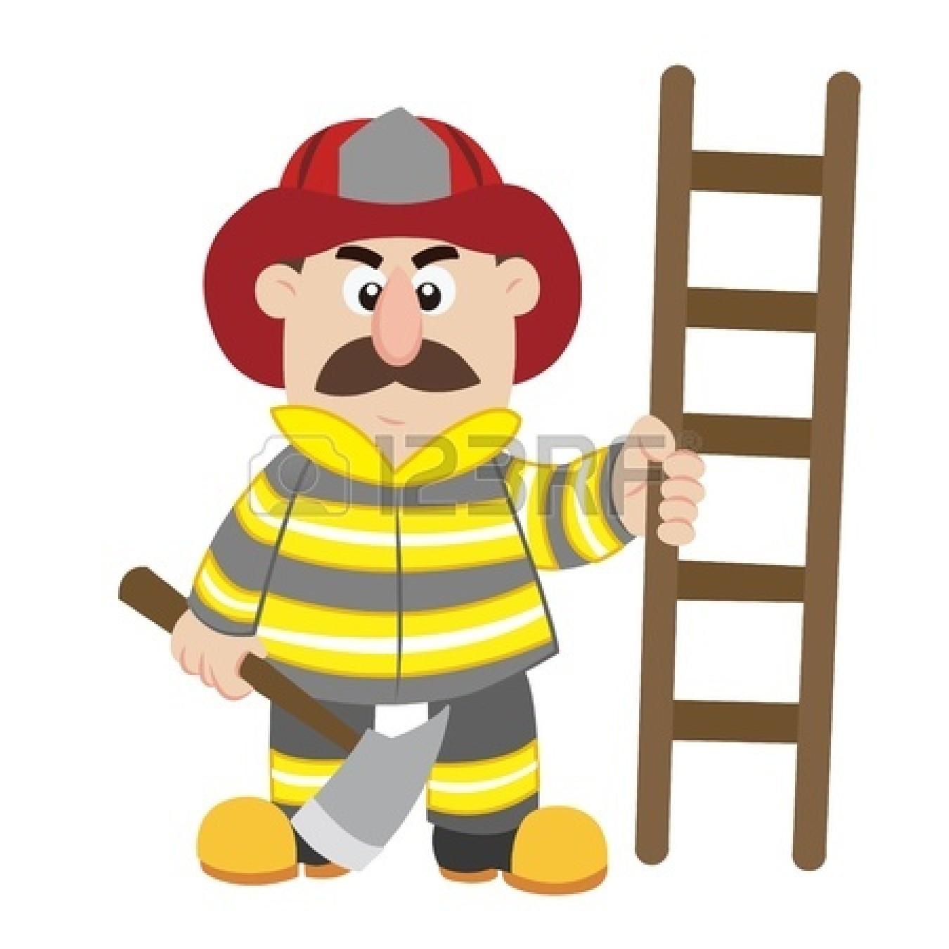 1350x1350 Black Girl Firefighter Clipart