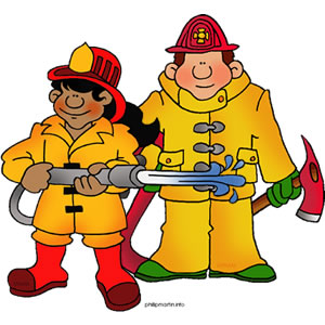 300x300 Clip Art Of Two Firefighters Clipart Panda