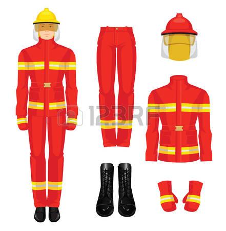 441x450 Firefighter Uniform Clipart