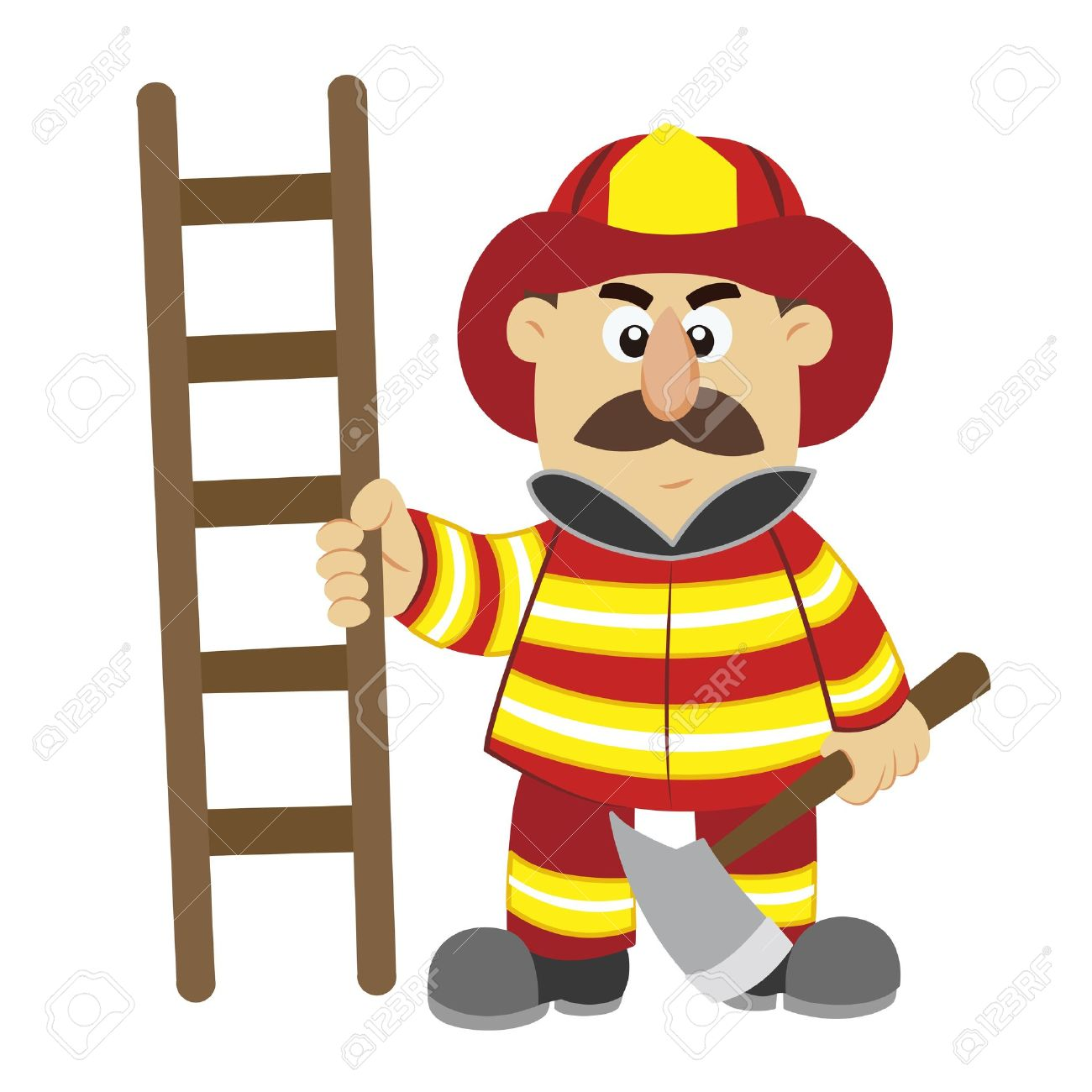 1300x1300 Firefighter Clipart Cartoon