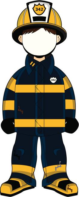 263x651 Firefighter Clipart Fireman Uniform