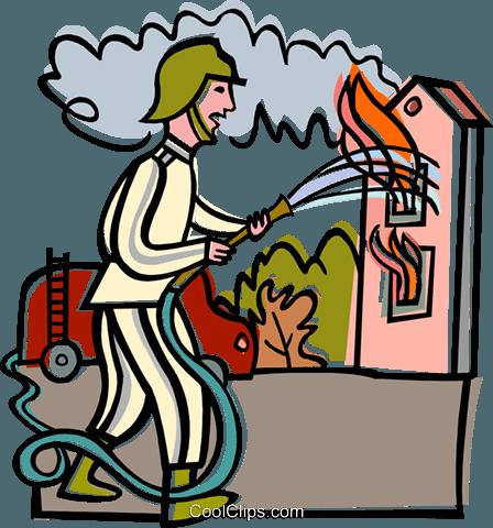 448x480 Firefighter Clipart House Fire