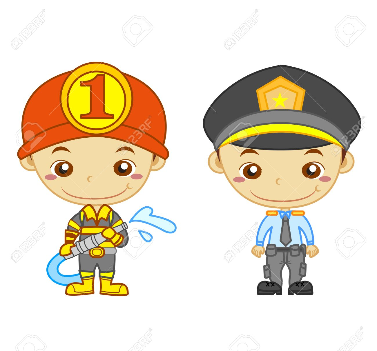 1300x1211 Firefighter Clipart Police Officer