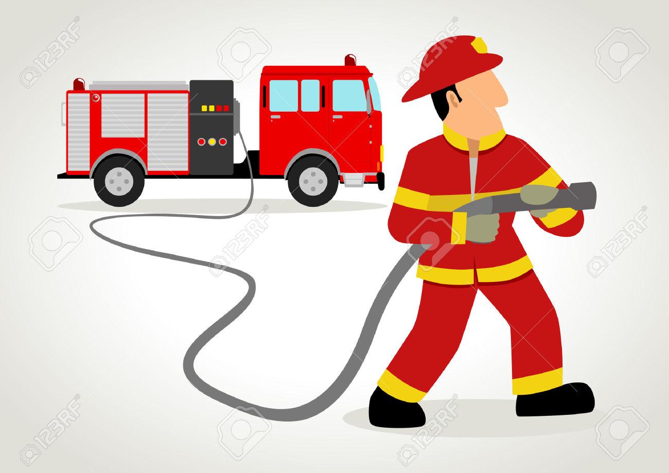 1300x919 Firefighter Clipart Vector
