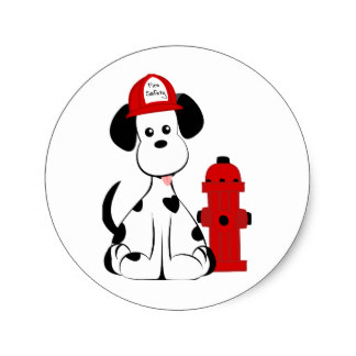324x324 Dalmatian Dog Firefighter Gifts On Zazzle