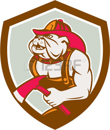 380x450 Illustration Of A Mascot Dog Canine Fireman Fire Fighter Emergency