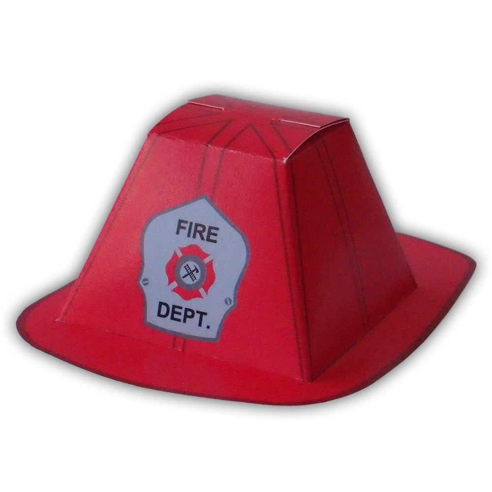 1000x1000 Firefighter Helmet Gift Box Favor Party Printable Color