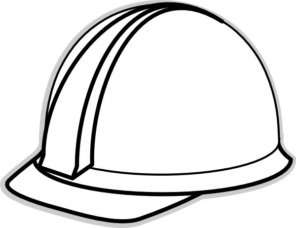 600x462 Hard Hat Template For Teacher White 2 Clip Art