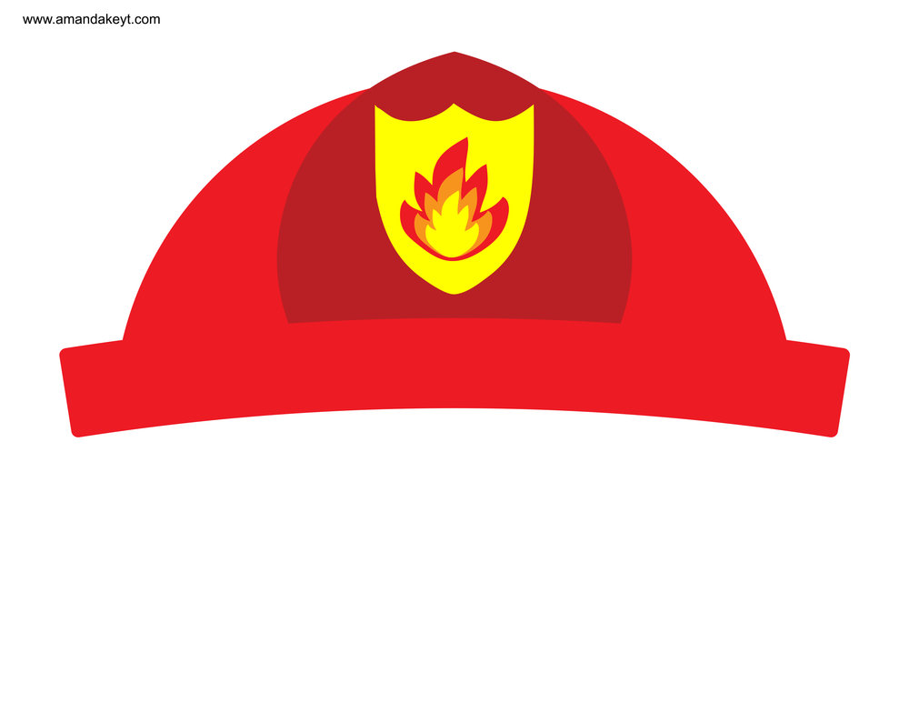 picture about Fireman Hat Printable titled Firefighter Hat Template Totally free obtain suitable Firefighter