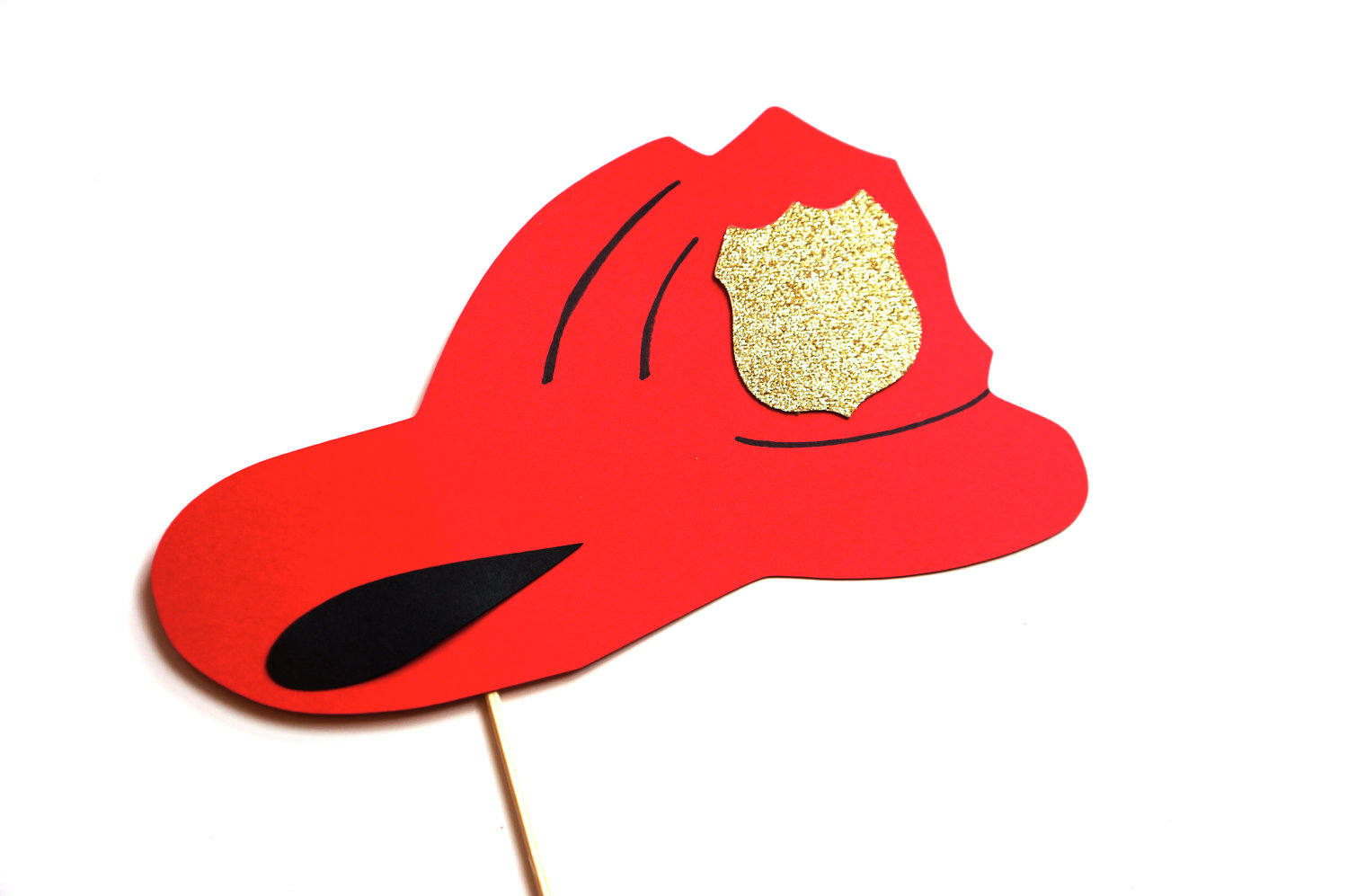 1500x997 Photo Booth Props Firefighter Helmet With Glitter Badge