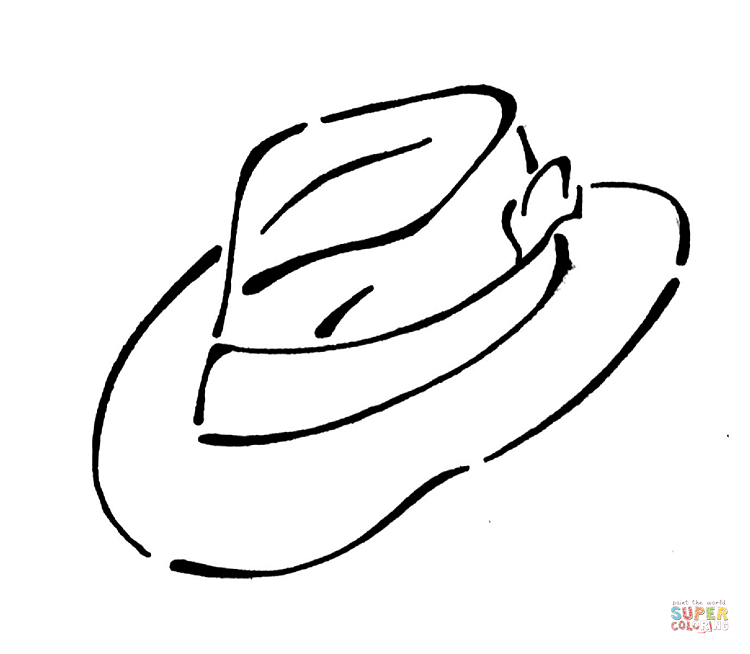 750x654 Top 86 Hat Coloring Pages