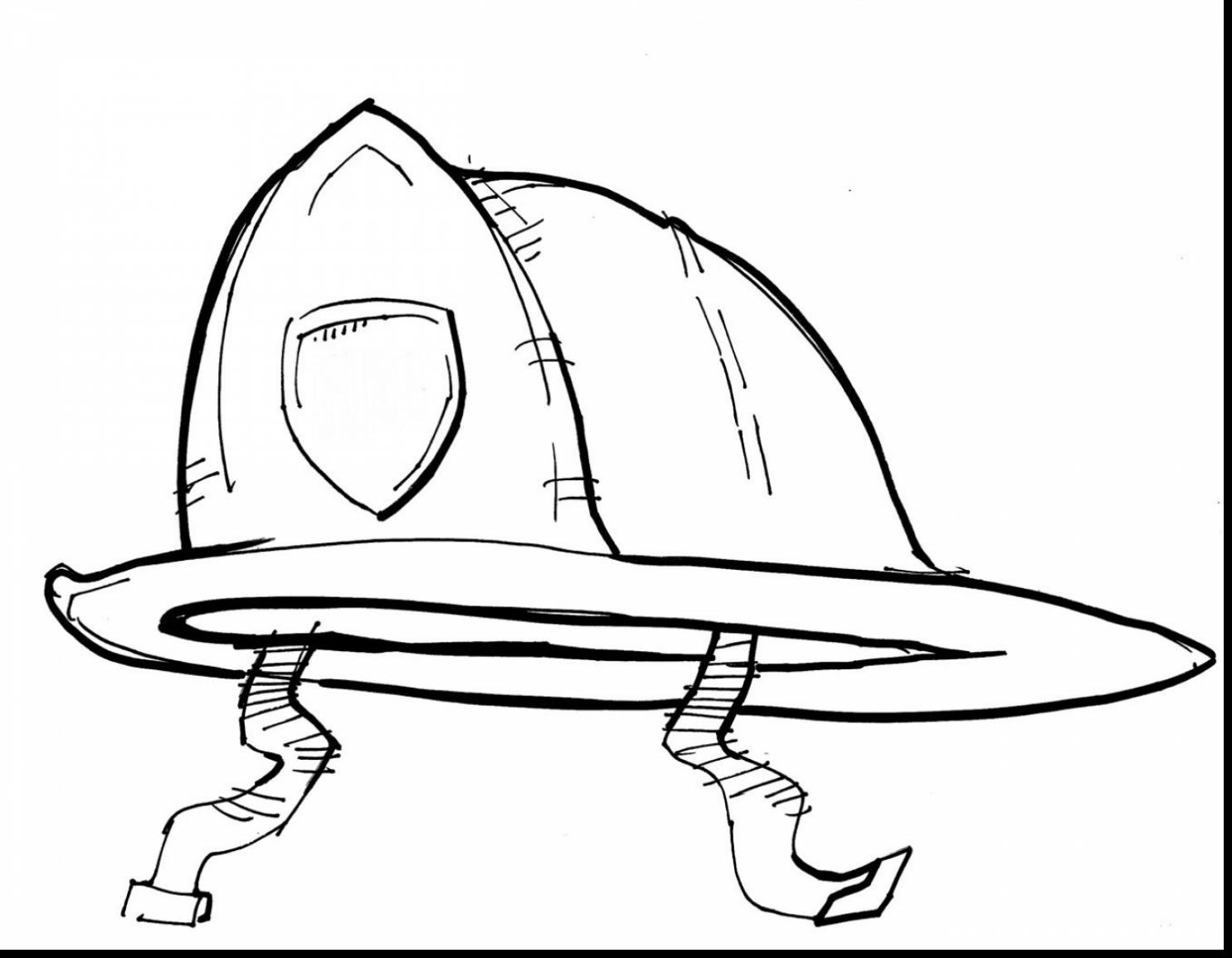 1485x1155 Brilliant Firefighter Hat Coloring Page With Firefighter Coloring