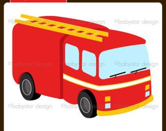 340x270 Fire Truck Clip Art Single Clipart Panda
