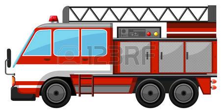 450x227 Fire Truck Clipart Ladder