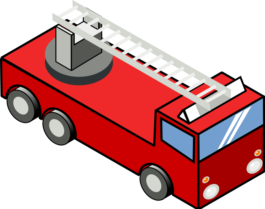 900x711 Fire Truck Wink Smiley Clip Art Vector