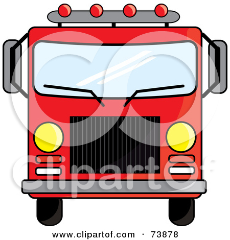 450x470 Vintage Fire Truck Clipart
