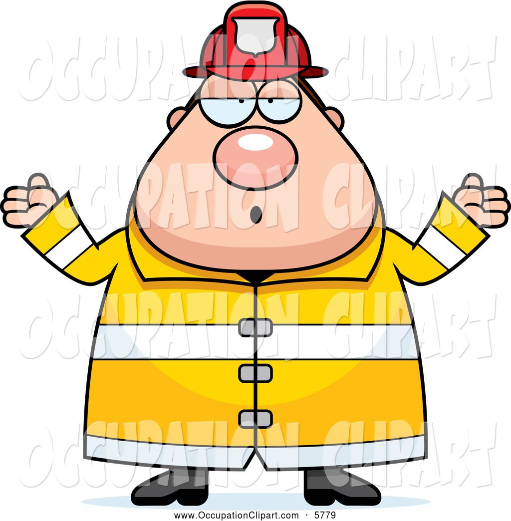 1024x1044 Clip Art Of A Chubby Fireman Shrugging By Cory Thoman