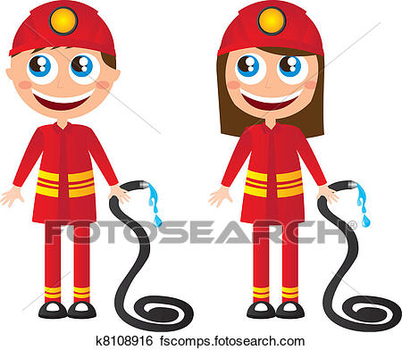 450x392 Clip Art Of Firefighters Cartoons K8108916