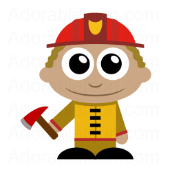 250x250 Firefighter Cartoon Characters Free Clipart Images